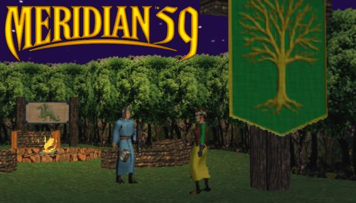 Start der MMORPG in den Neunzigern: Meridian59