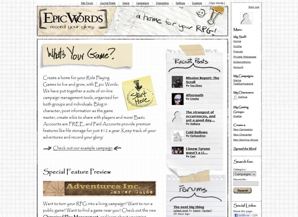 EpicWords_Startseite