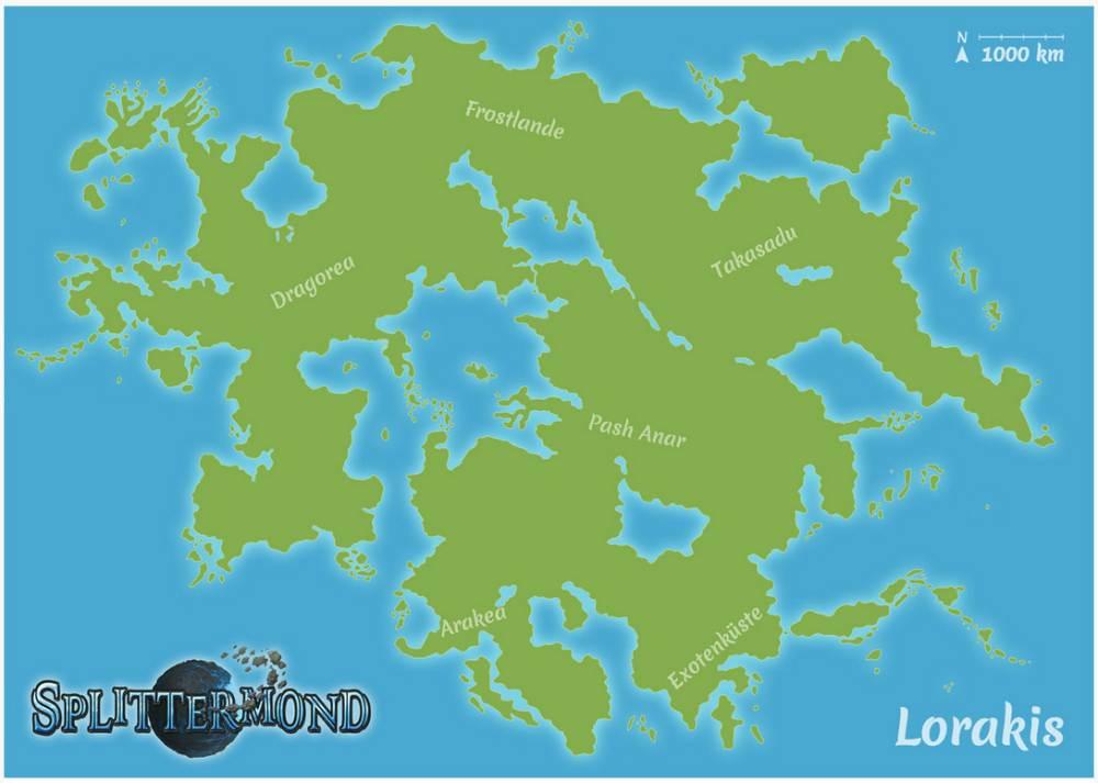 Der Kontinent Lorakis; Zeichner: Robert Altbauer