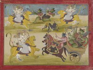Kampf gegen die Asura Shunga und Nishunga