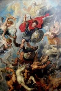 Höllensturz durch den Erzengel Michael, Gemälde von Peter Paul Rubens,