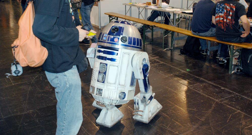 R2-D2 war auch dabei und verteilte Flyer für die Heidelberger