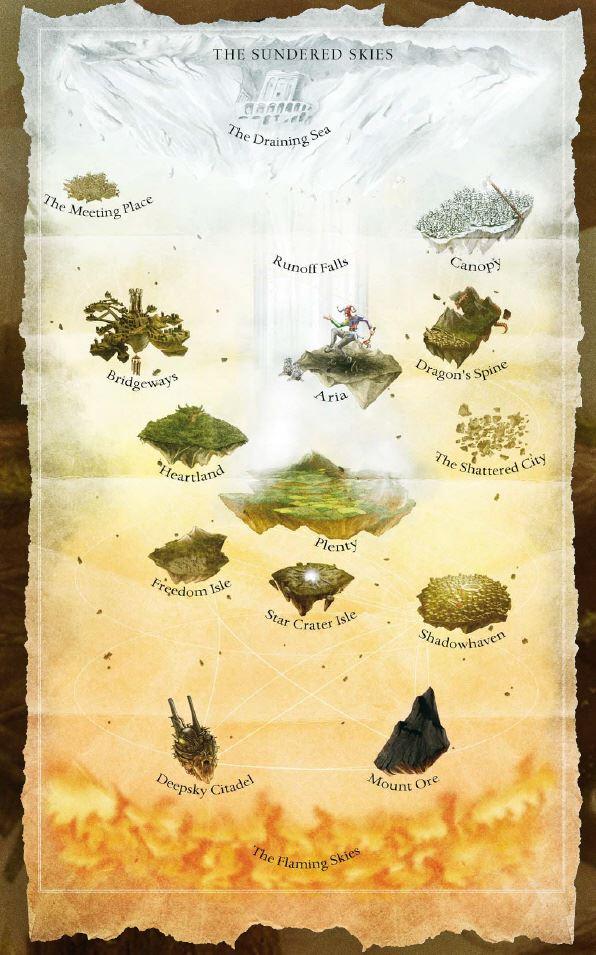 Sundered Skies Karte (englisch)