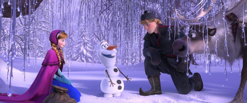 Anna, Olaf, Kristoff und Sven - eine illustre Runde