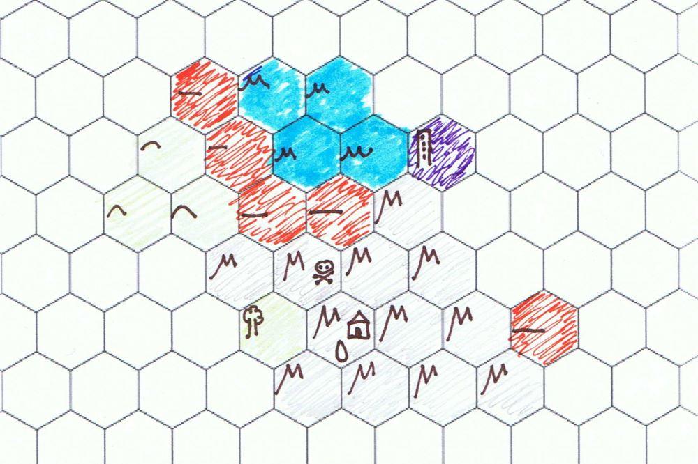 Ein einfaches Beispiel einer sich langsam aufdeckenden Karte.