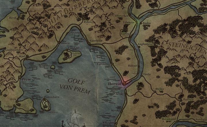 Die gezeichnete Karte kann sich sehen lassen. Irgendwo hier ist die gesuchte Schicksalsklinge versteckt.
