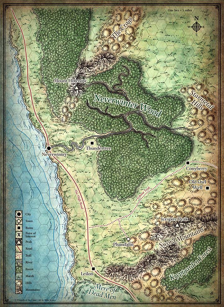 Die Karte der nördlichen Schwertküste.