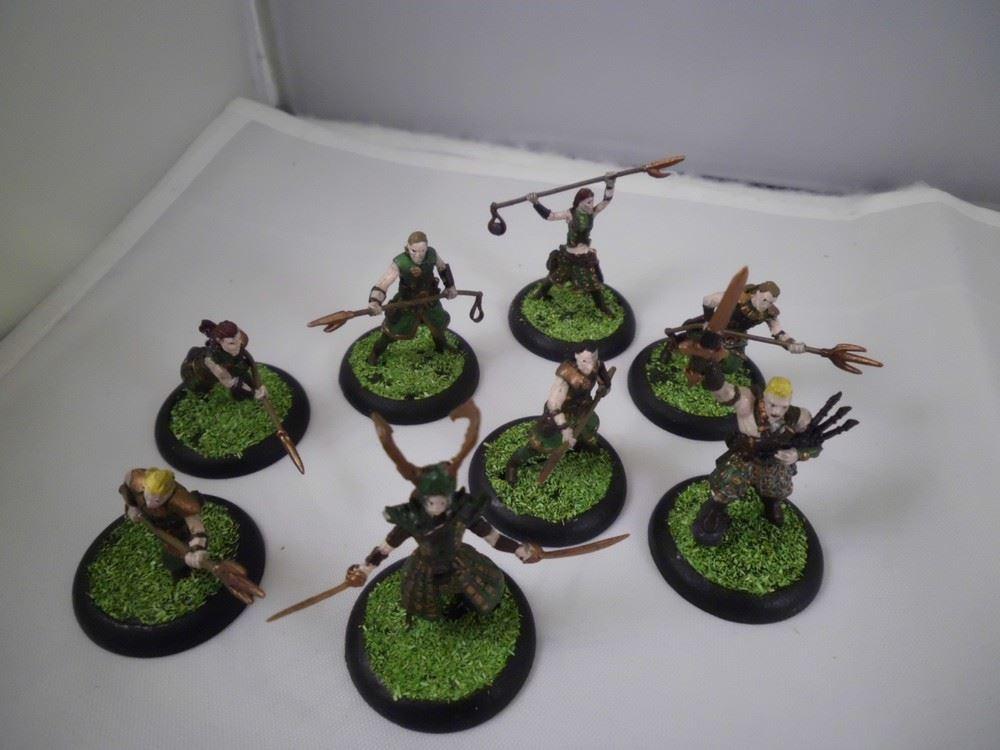 Eine kleine Truppe vom Wyldfolk aus Godslayer, deren Bases mit Gras beklebt  sind.
