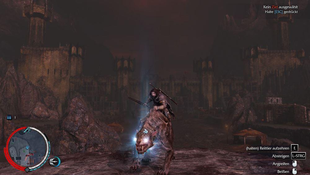 Talion kann auf den Wildtieren Mordors reiten, die aber seltsamerweise keine Warge, sondern so genannte Caragor sind.