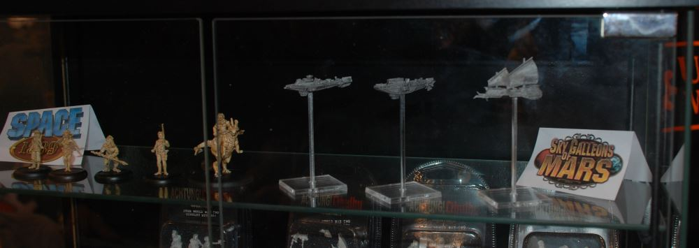 Sky Galleons of Mars und Space 1889 - die Miniaturen entstammen der Hand des gleichen Künstlers