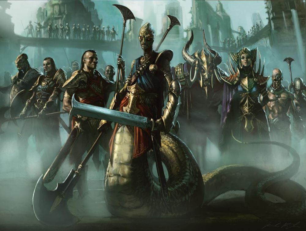 Die Naga-Anführer der Sultai haben mit Dämonen Pakte geschlossen.