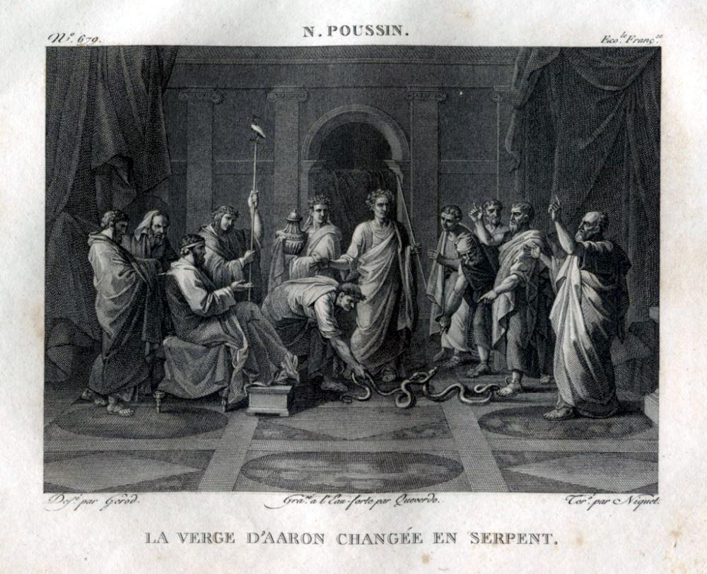 Moses und Aaron am Hofe von Nicolas Poussin