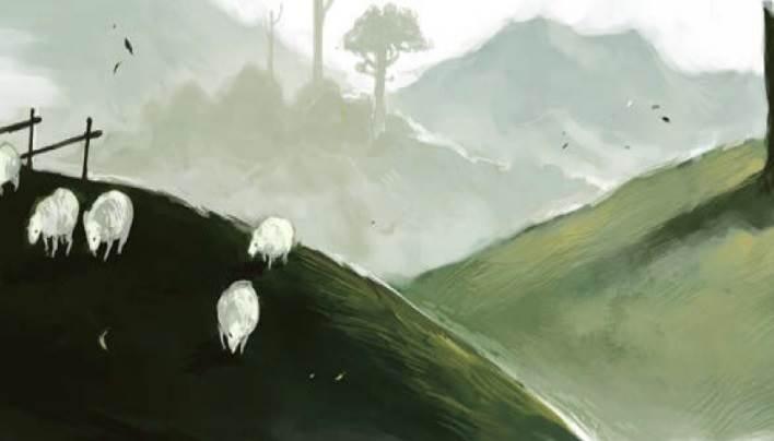 Die Illustrationen im Buch unterstützen eher Stimmungen und regen die Fantasie an, statt Details preiszugeben.