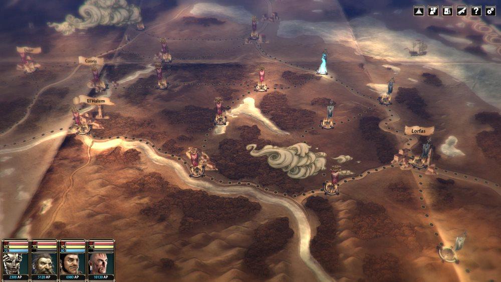 Militärkampagne: Nach und nach fallen die Städte des Großemirats Mengbilla auf der taktischen Karte.