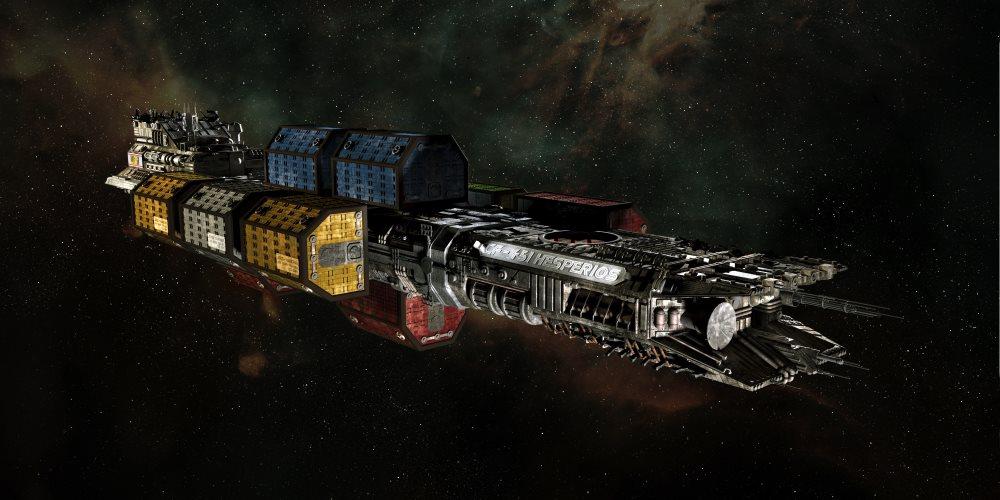 Weltraumfrachter Hesperios