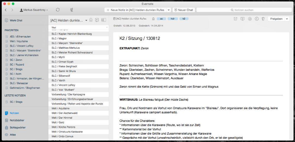Digitale Kampagnenplanung mit Evernote.