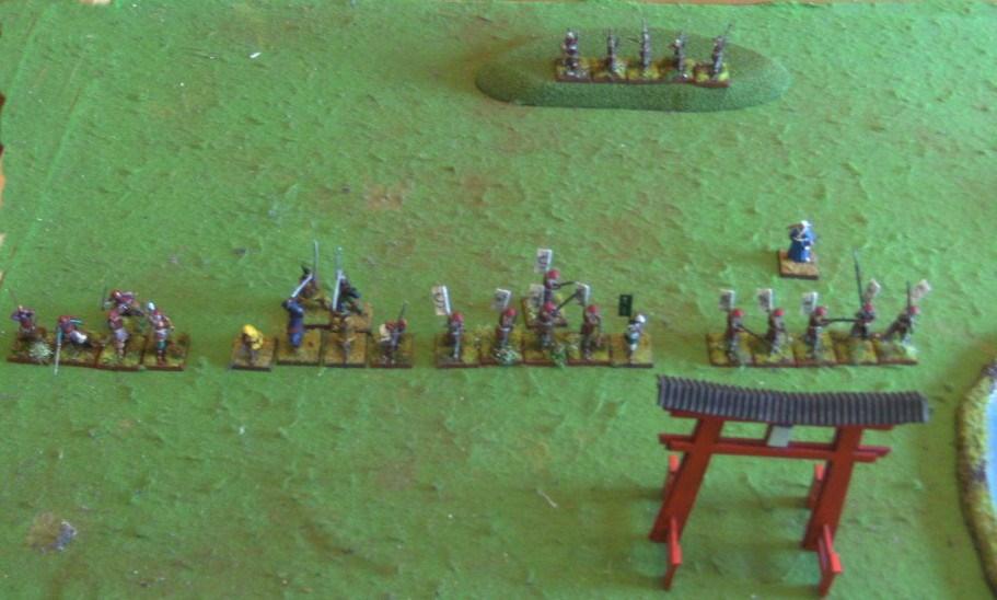 Kirahidas vorrückende Streitmacht