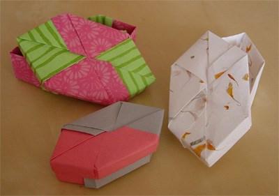 Origami -  manche Geschenke werden nie ausgepackt, das würde die schöne Verpackung zuerstören