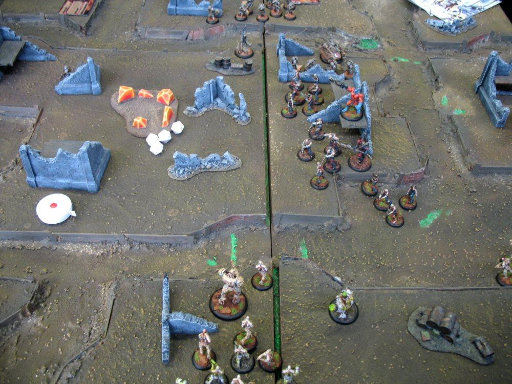 Der Warzone-Tisch war eher schlicht, aber funktional