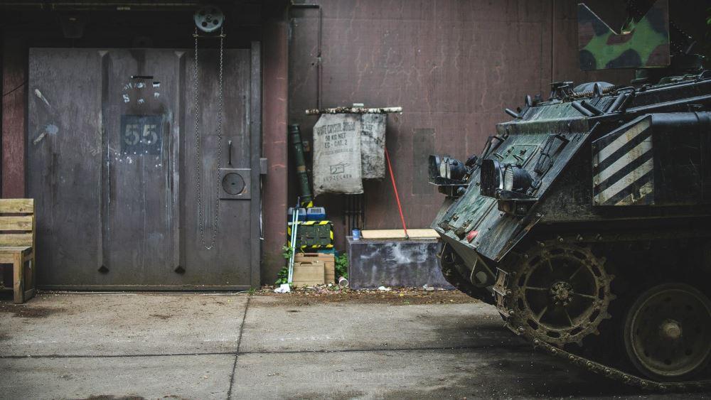 Ein Panzerfahrzeug sieht man eher selten auf LARPS (c) Moritz Jendral