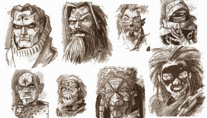 Ein paar der vielen Charaktere, die ein eigenes Portrait und Kurzbeschreibung erhalten.
