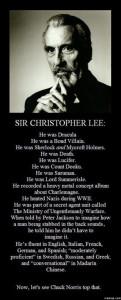 Christopher Lee war...