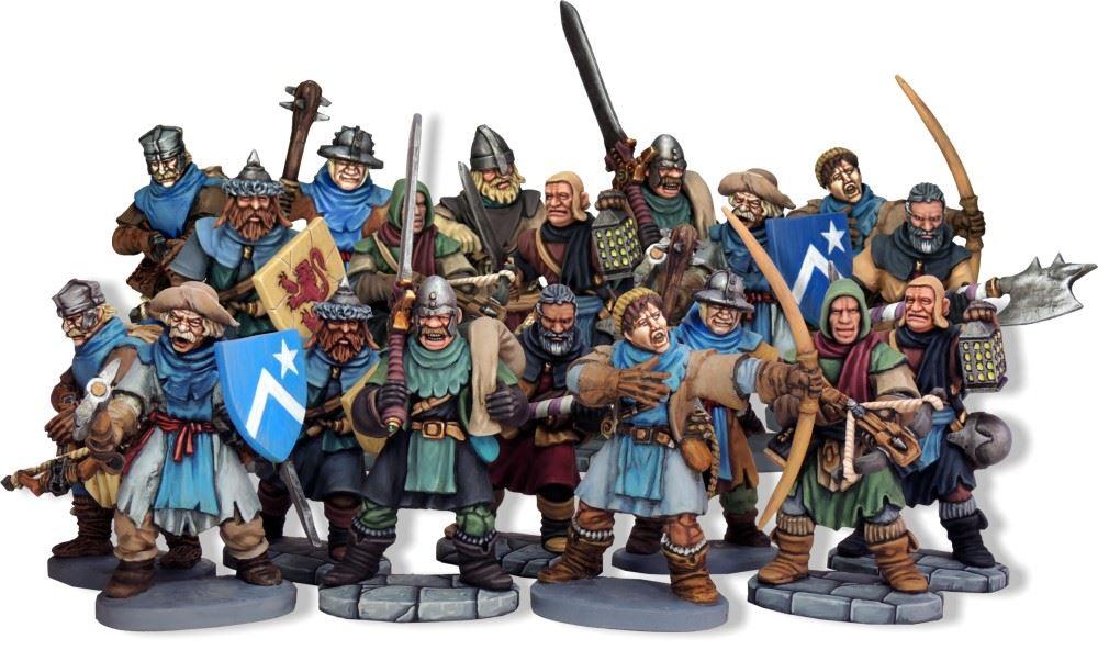 Die offiziellen Miniaturen, wie diese Krieger, heben sich durch einen comichaften Touch von der Masse ab