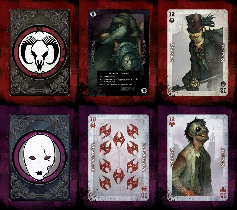Die ersten Bilder der enthaltenen Fate-Decks sehen äußerst stimmig aus.