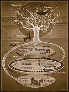 Der Weltenbaum der nordischen Mythologie