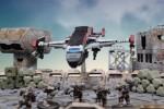 Das Enforcer-Dropship im Einsatz. Großmodelle dieser Art werden keinen Einzug in Deadzone halten.