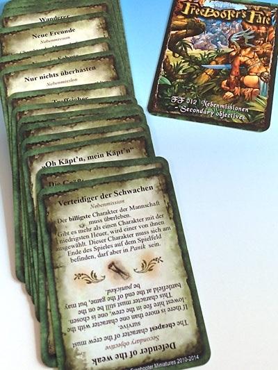 Ein Stapel Karten – viel Spaß für alle Beteiligten (c) Freebooter Miniatures
