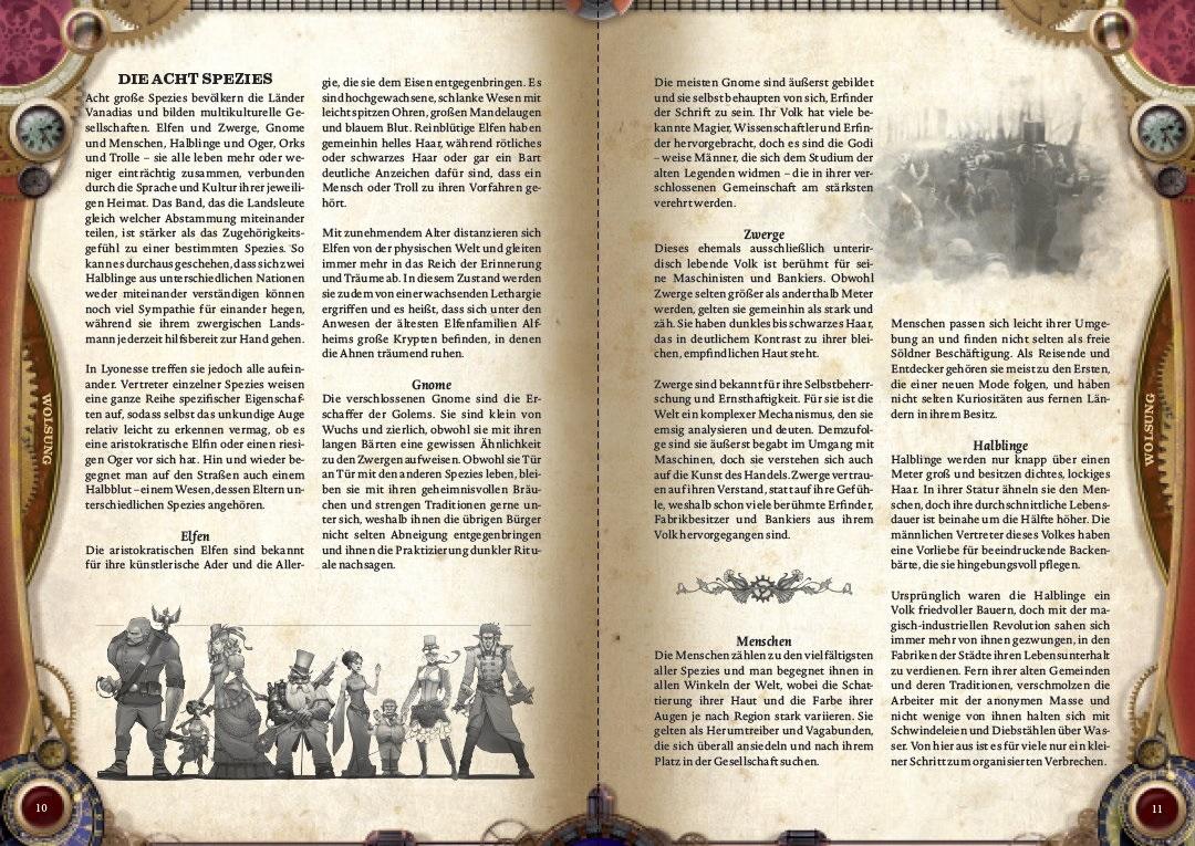 Eine der Vorschauseiten für die deutsche Ausgabe der Wolsung SSG-Regeln. (c) Warehouse Games