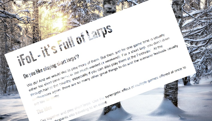 ifol 01/16 – ein Mini-LARP-Festival