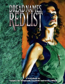 V20 Dread Names, Red List World of Darkness Cover