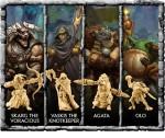 Die vier enthaltenen Helden oder Monster. (c) Privateer Press