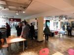 Schon vor der eigentlichen Öffnung füllte sich die Cafeteria.