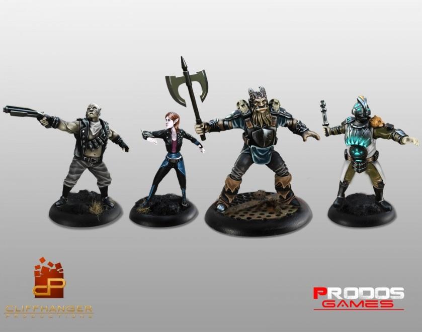 Die vier Shadowrunner in Studiobemalung. © Prodos Games