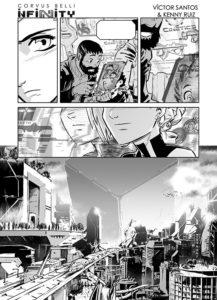 Eine der gezeigten Seiten des Mangas zu Infinity.