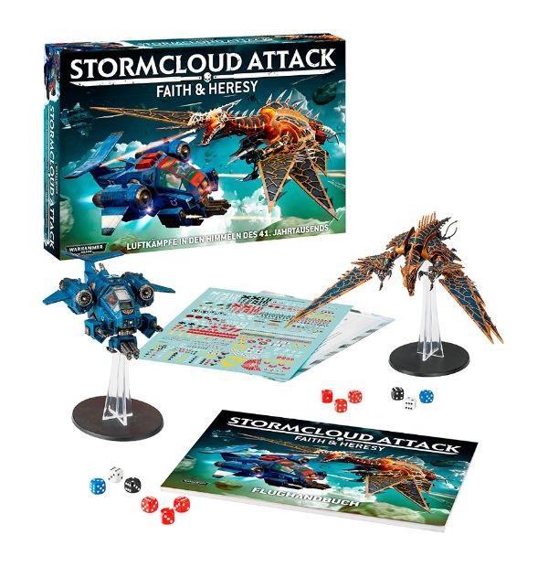 Der Inhalt von Stormcloud Attack: Faith & Heresy.