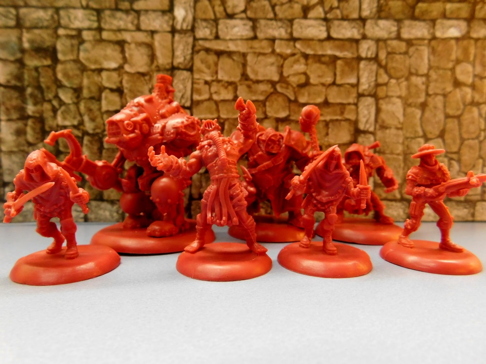 Beispielhaft: Schurken in rot.