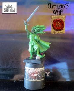 Ein WiP von Sunna, der ersten Figur speziell für The 9th Age.