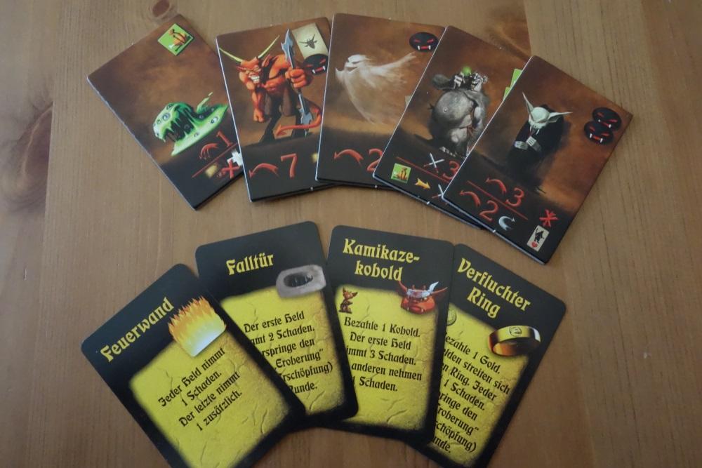 Einige Monsterkarten, einige Fallenkarten