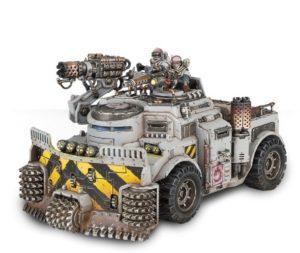Die Rückkehr des Cults bringt das Industriefahrzeug Goliath mit sich, hier in der Rockgrinder-Variante.